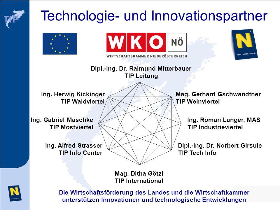 Die Wirtschaftsförderung des Landes und die Wirtschaftkammer unterstützen Innovationen und technologische Entwicklungen Technologie- und Innovationspa