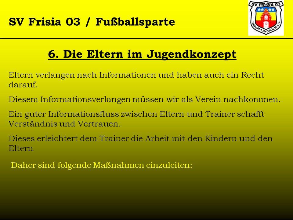 SV Frisia 03 / Fußballsparte Eltern verlangen nach Informationen und haben auch ein Recht darauf. Diesem Informationsverlangen müssen wir als Verein n