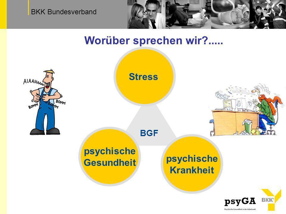 TextfeldBKK Bundesverband psychisch krank in der Arbeitswelt Depression, Burn-out, Angst, Sucht zumindest relative Zunahme….
