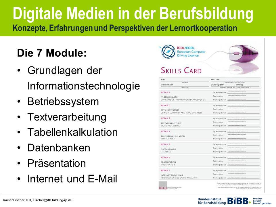 Digitale Medien in der Berufsbildung Konzepte, Erfahrungen und Perspektiven der Lernortkooperation Rainer Fischer, IFB, Fischer@ifb.bildung-rp.de Grun
