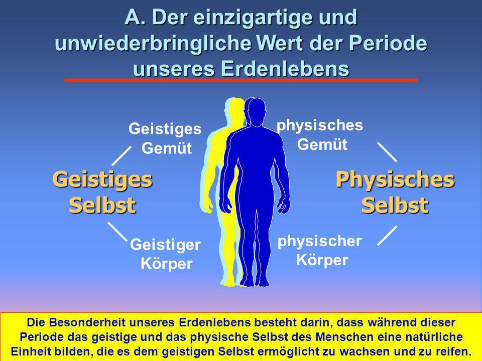 Physisches Selbst Geistiges Selbst Geistiges Gemüt Geistiger Körper physisches Gemüt physischer Körper A.