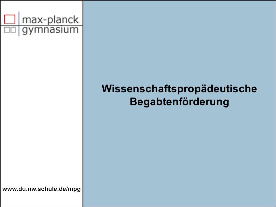 www.du.nw.schule.de/mpg a.Facharbeit b.Erwerb eines Leistungsnachweises c.