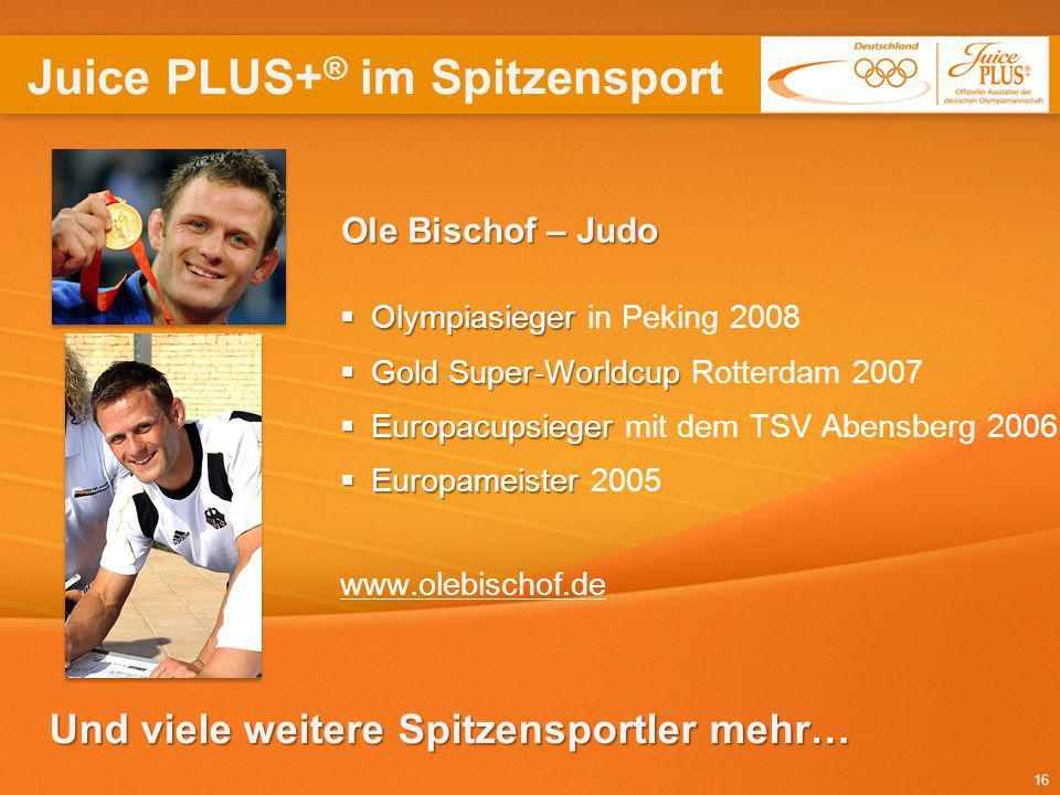 16 OleBischof – Judo Ole Bischof – Judo Olympiasieger Olympiasieger in Peking 2008 Gold Super-Worldcup Gold Super-Worldcup Rotterdam 2007 Europacupsie