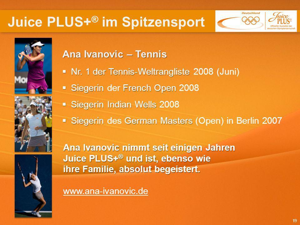 19 Nr. 1 der Tennis-Weltrangliste Nr. 1 der Tennis-Weltrangliste 2008 (Juni) SiegerinFrenchOpen Siegerin der French Open 2008 SiegerinIndian Wells Sie
