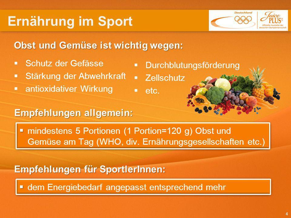 15 offizieller Ausstatter der deutschen Olympiamannschaft Juice PLUS+ ® ist durch die Kooperation mit dem Deutschen Olympischen Sportbund (DSOB) offizieller Ausstatter der deutschen Olympiamannschaft.