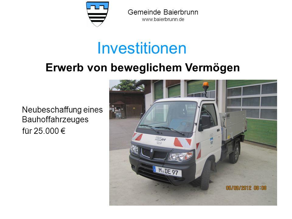 Gemeinde Baierbrunn www.baierbrunn.de Neubeschaffung EDV.