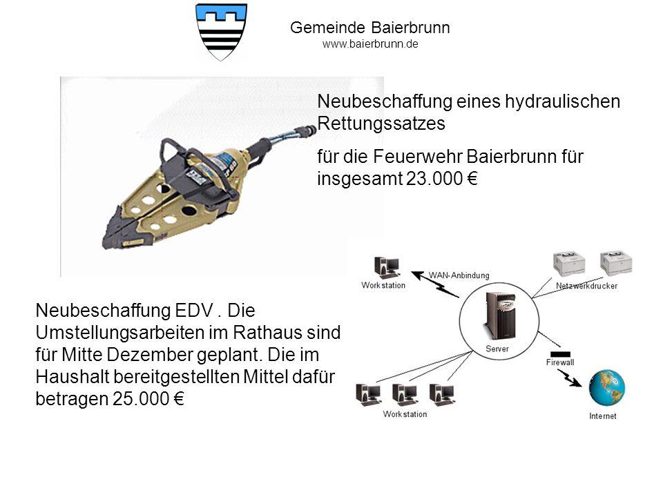 Gemeinde Baierbrunn www.baierbrunn.de Straßenbau Forst- und Birkenstraße Kosten: 483.989,43 Bauarbeiten sind fertig gestellt.
