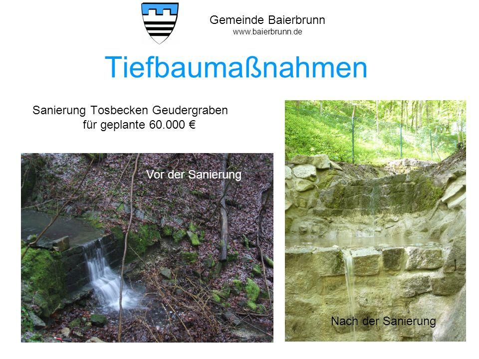 Gemeinde Baierbrunn www.baierbrunn.de Hochbau Wasserwerk Die Sanierung des Wasserwerks wurde fertig gestellt.
