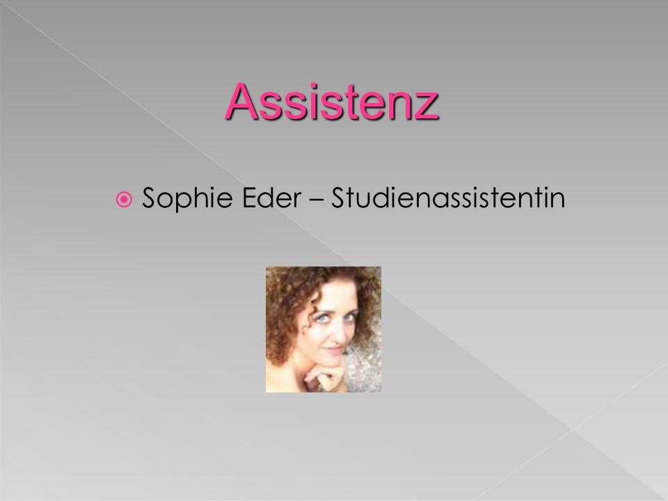 Sophie Eder – Studienassistentin Assistenz