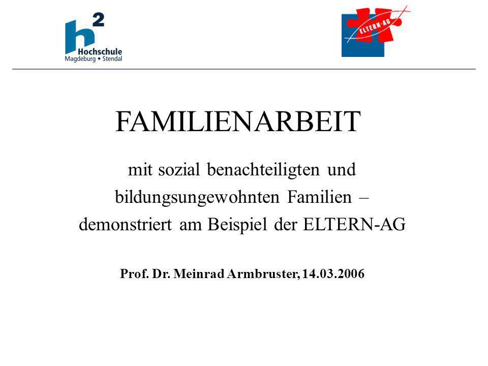 Die PISA-Studie (2001, 2005) weist nach, das die soziale Herkunft der Kinder über ihr schulisches Bildungs- und Leistungsniveau entscheidet.