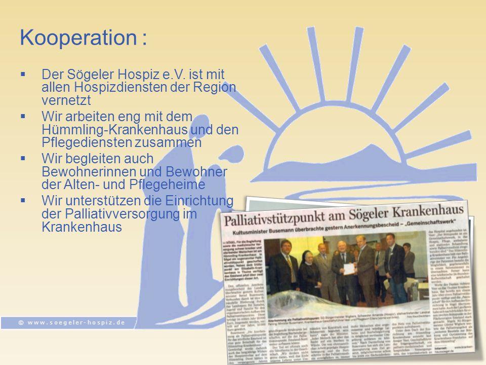 Kooperation : Der Sögeler Hospiz e.V.