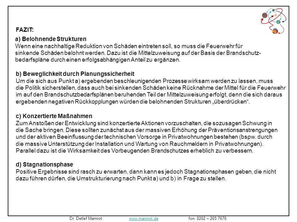 Das Ergebnis unter gleichzeitiger Annahme der beschriebenen konzertierten weiteren Maßnahmen: Dr. Detlef Mamrot www.mamrot.de fon: 0202 – 265 7676www.