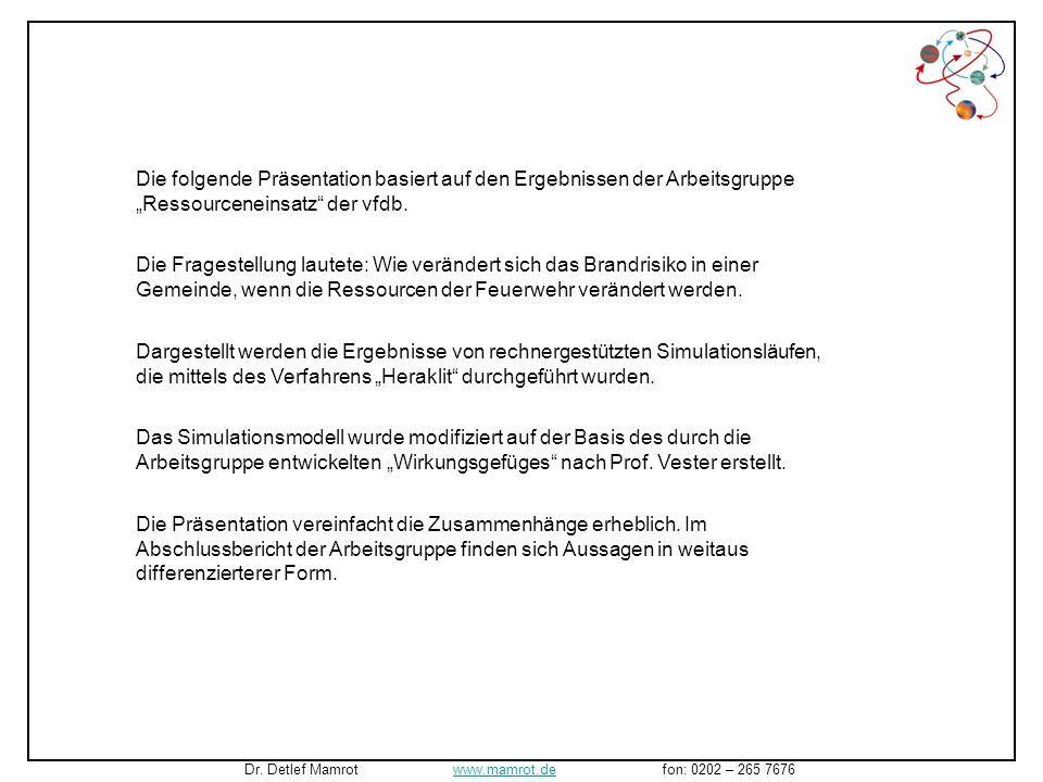 Dr. Detlef Mamrot www.mamrot.de fon: 0202 – 265 7676www.mamrot.de Begleitende Präsentation zum Bericht an den Vorstand der Vereinigung zur Förderung d