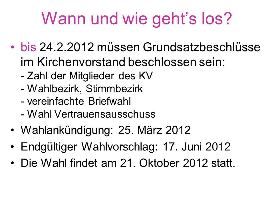 Wählen und gewählt werden. Die Gemeinde aktiv mitgestalten! Kirchenvorstandswahl 21. Oktober 2012
