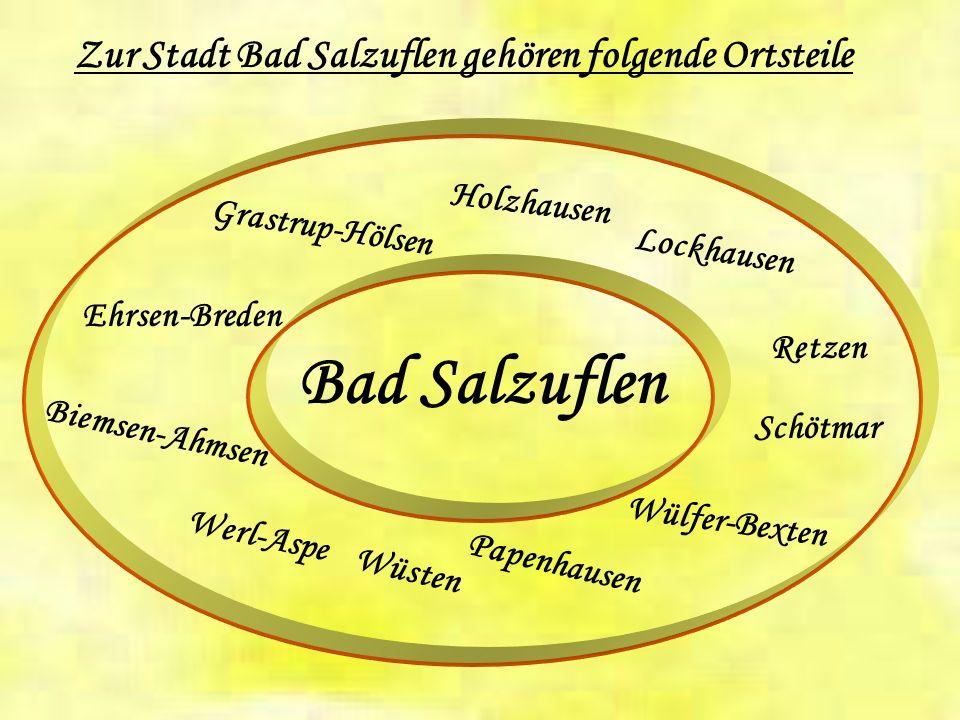 Die damalige und heutige Zugehörigkeit von Bad Salzuflen