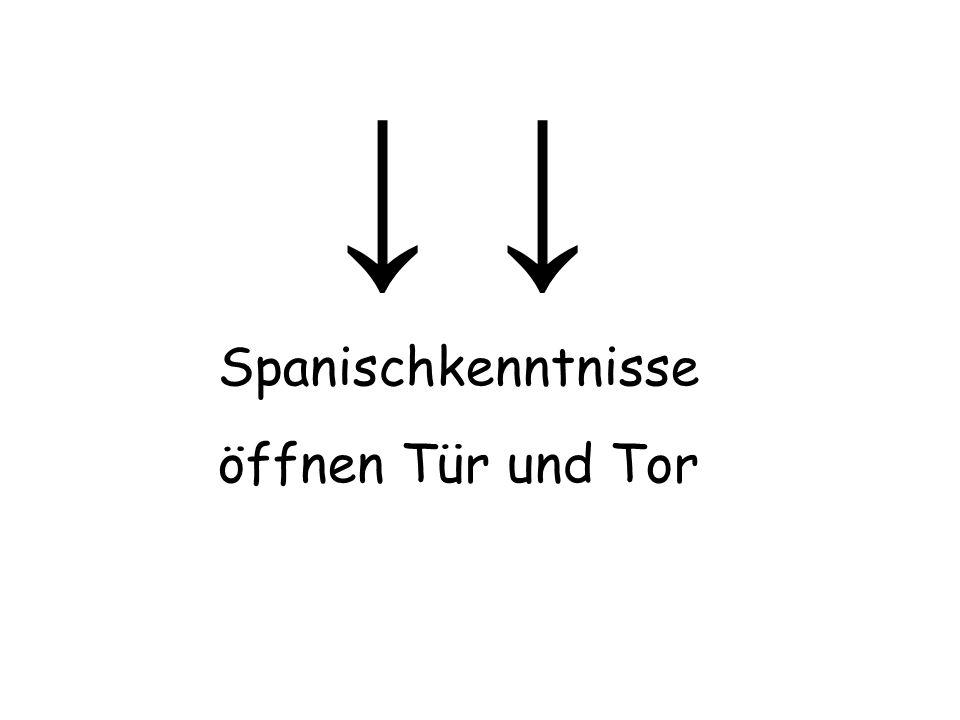 Spanischkenntnisse öffnen Tür und Tor
