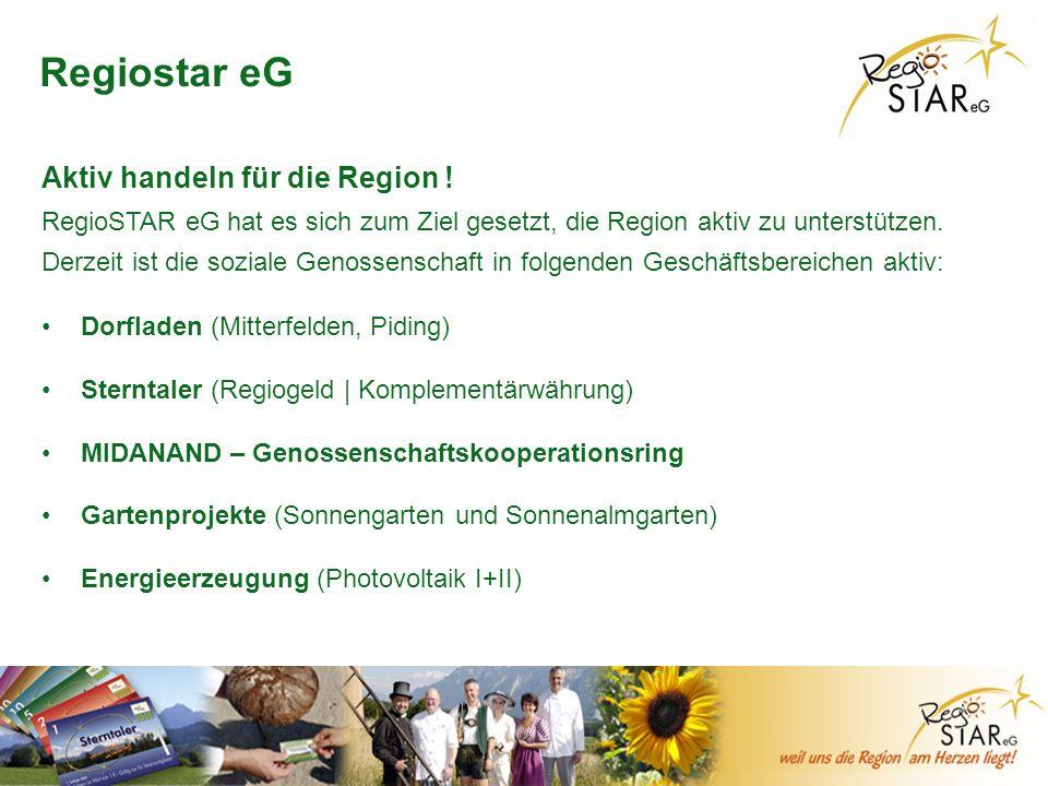 © FH-Prof. Dr. Bernhard Zimmer – Piding, 20.10.2011 Regiostar eG Dorfladen (Mitterfelden, Piding) Sterntaler (Regiogeld   Komplementärwährung) MIDANAN