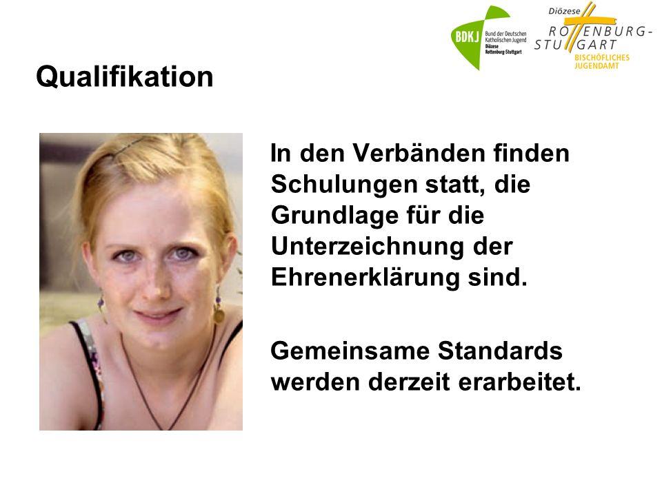 Qualifikation In den Verbänden finden Schulungen statt, die Grundlage für die Unterzeichnung der Ehrenerklärung sind.