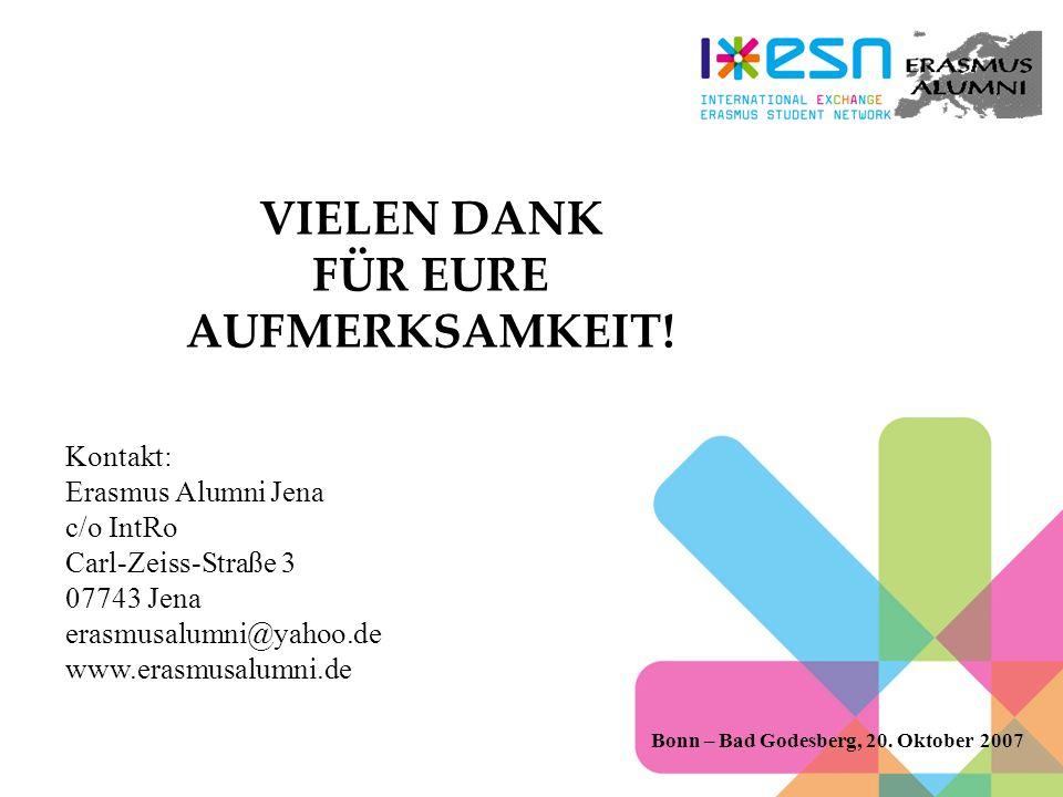 VIELEN DANK FÜR EURE AUFMERKSAMKEIT.Bonn – Bad Godesberg, 20.
