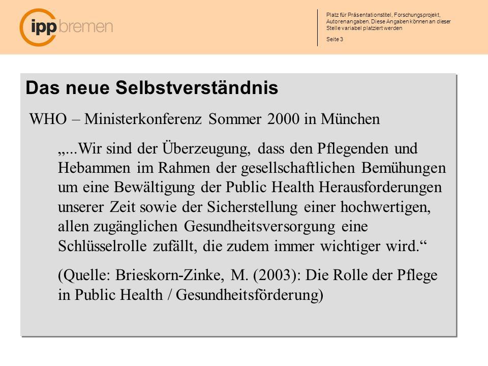Seite 4 Platz für Präsentationstitel, Forschungsprojekt, Autorenangaben.