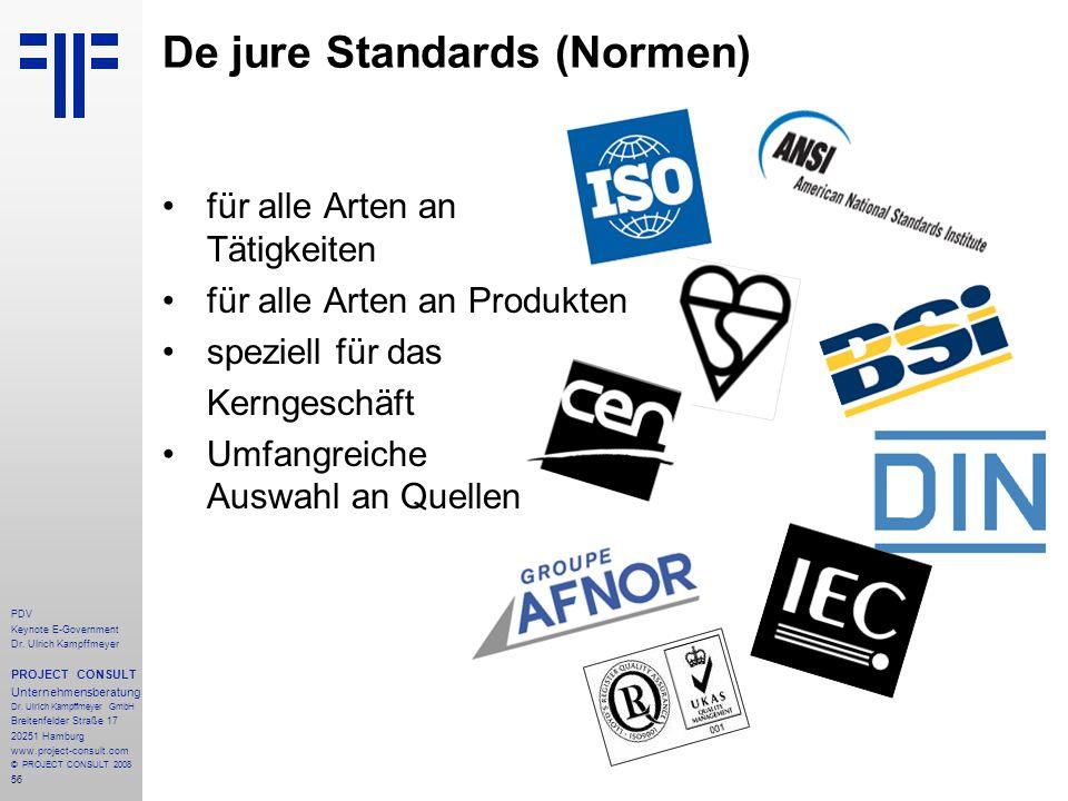 56 PDV Keynote E-Government Dr. Ulrich Kampffmeyer PROJECT CONSULT Unternehmensberatung Dr. Ulrich Kampffmeyer GmbH Breitenfelder Straße 17 20251 Hamb