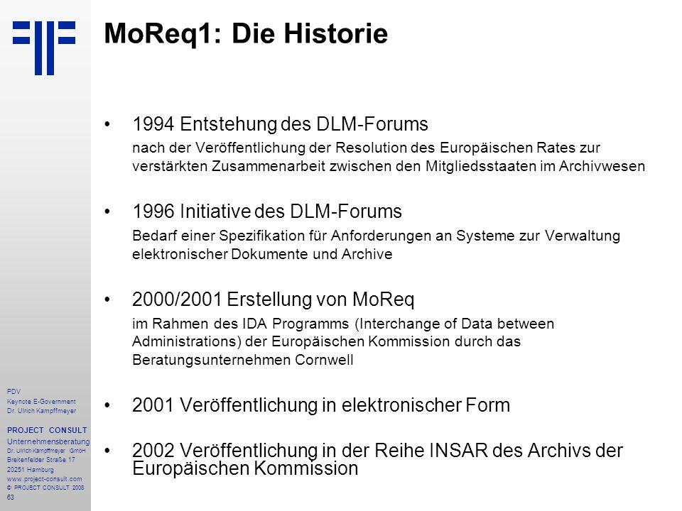63 PDV Keynote E-Government Dr. Ulrich Kampffmeyer PROJECT CONSULT Unternehmensberatung Dr. Ulrich Kampffmeyer GmbH Breitenfelder Straße 17 20251 Hamb