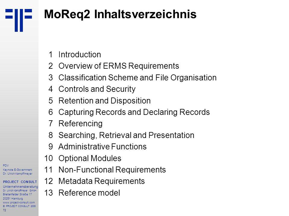 72 PDV Keynote E-Government Dr. Ulrich Kampffmeyer PROJECT CONSULT Unternehmensberatung Dr. Ulrich Kampffmeyer GmbH Breitenfelder Straße 17 20251 Hamb