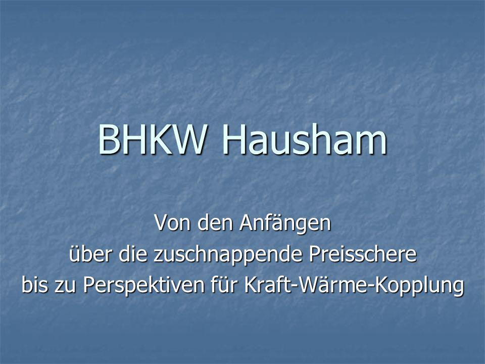 BHKW Hausham Hintergründe und Grundlage für die Investition: Die Gemeinde plante die Übernahme des lokalen Stromnetzes.