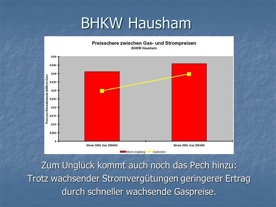 BHKW Hausham Die Studie des Büro Duschl zeigt: Die Studie des Büro Duschl zeigt: Die zuklappende Preis-Schere wird nicht auf dem Rücken der Wärmekunden ausgetragen.