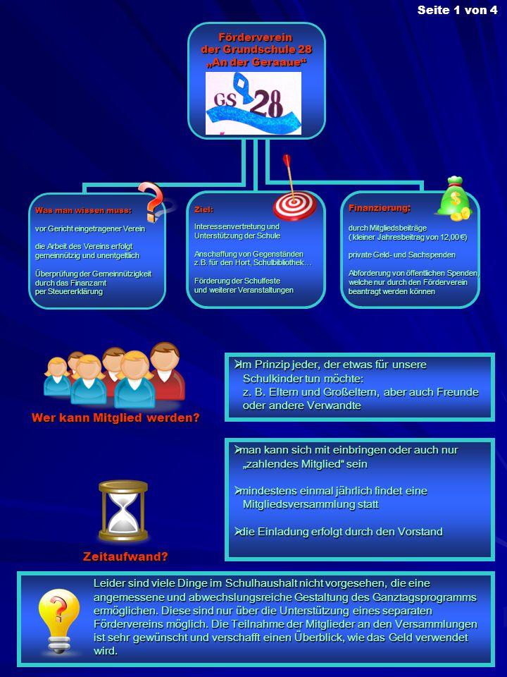 Förderverein der Grundschule 28 An der Geraaue Was man wissen muss: vor Gericht eingetragener Verein die Arbeit des Vereins erfolgt gemeinnützig und u
