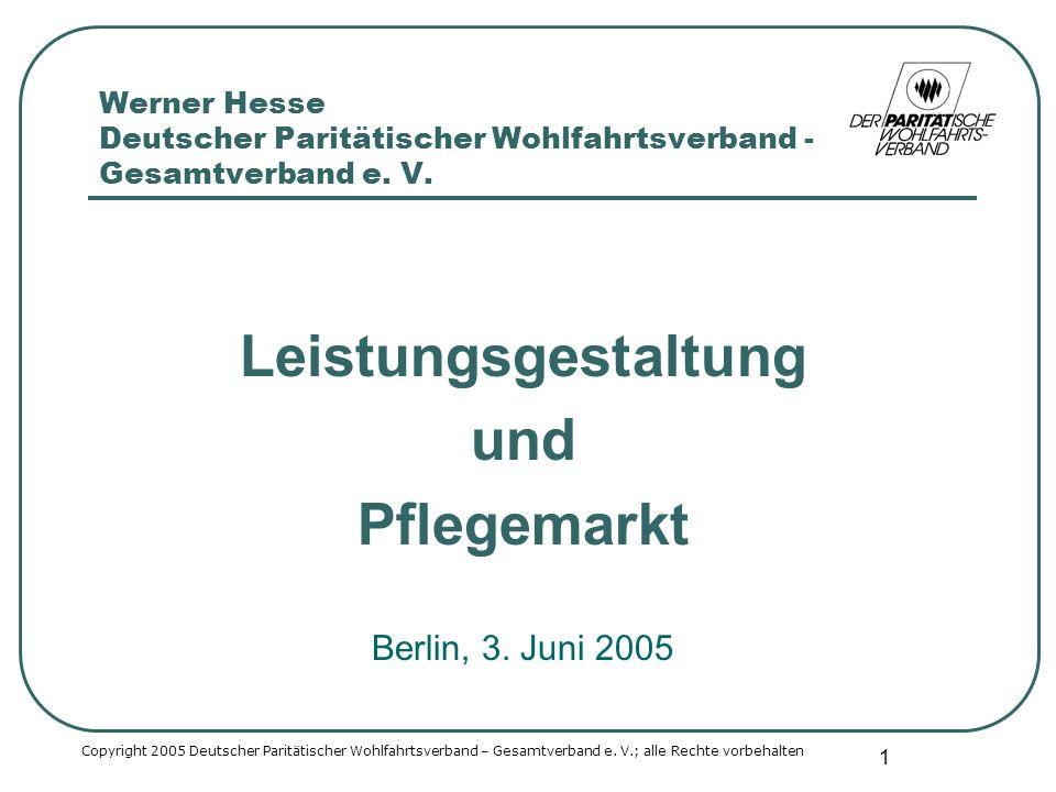 2 Markt Ort, an dem gehandelt wird Zusammentreffen von Angebot und Nachfrage Copyright 2005 Deutscher Paritätischer Wohlfahrtsverband – Gesamtverband e.