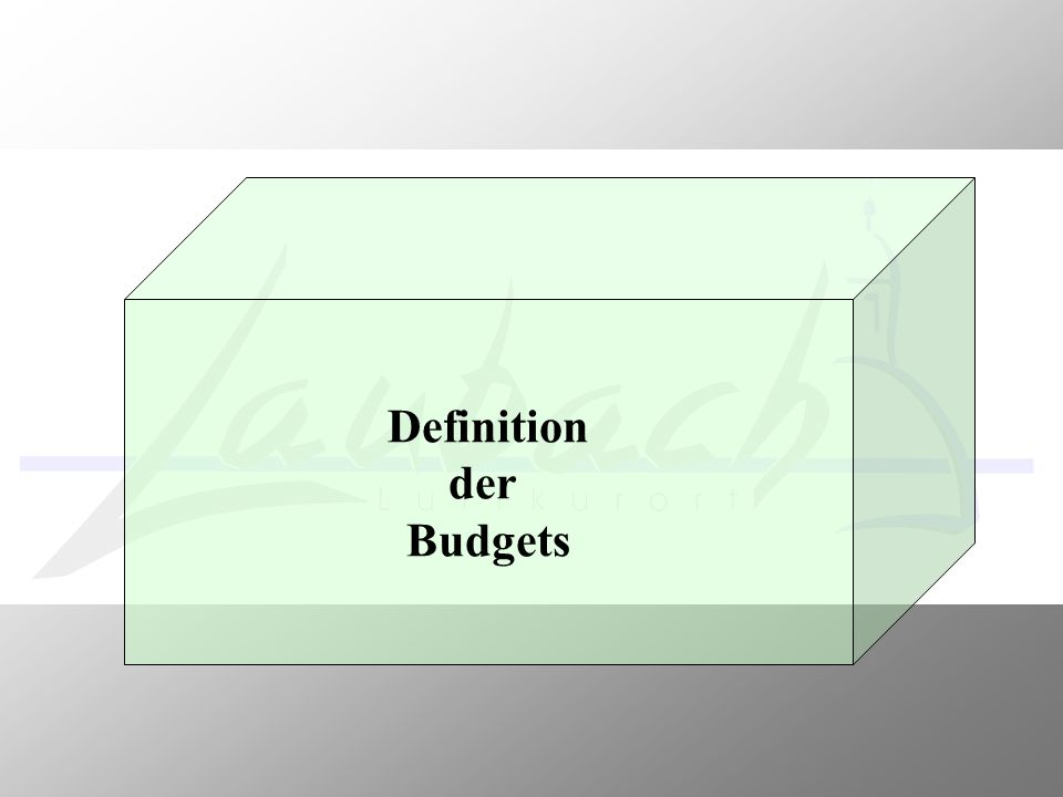 Definition der Budgets