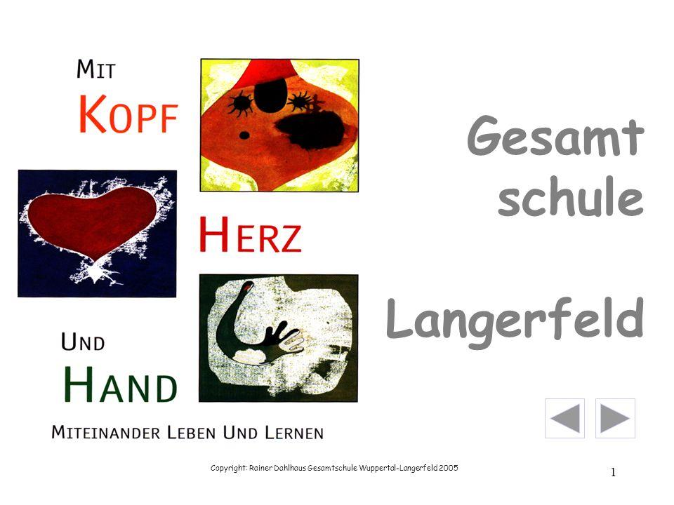 Copyright: Rainer Dahlhaus Gesamtschule Wuppertal-Langerfeld 2005 2 Herzlich willkommen !!.
