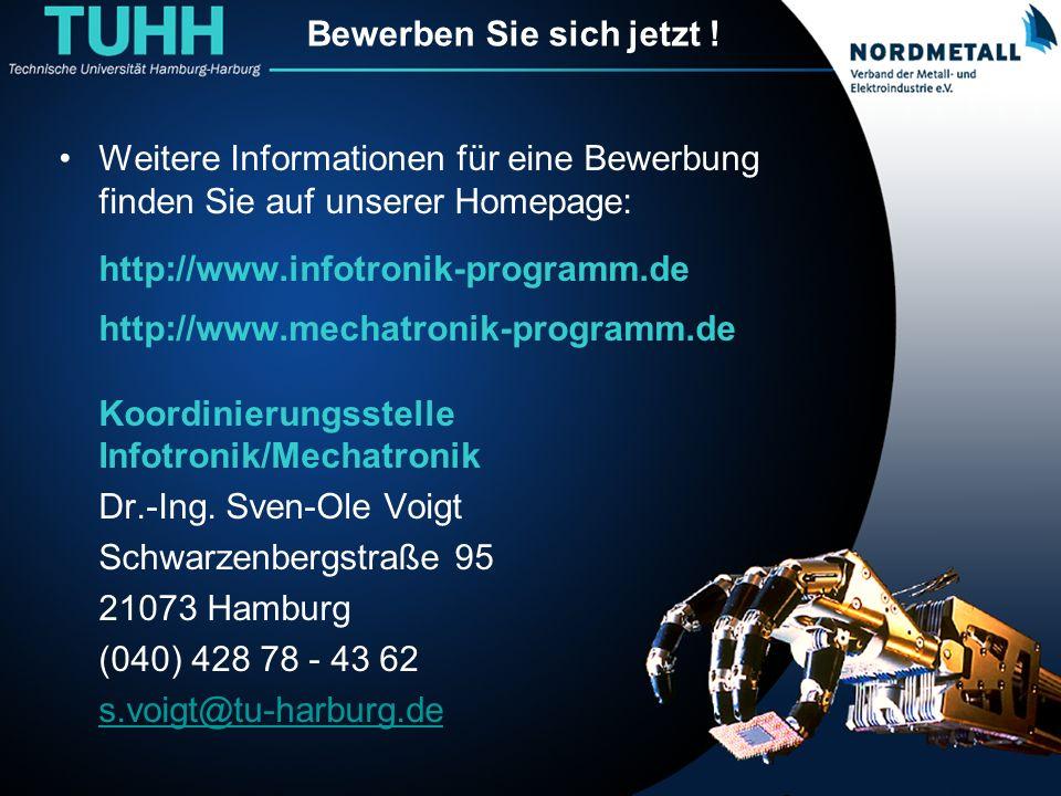 Bewerben Sie sich jetzt ! Weitere Informationen für eine Bewerbung finden Sie auf unserer Homepage: http://www.infotronik-programm.de http://www.mecha