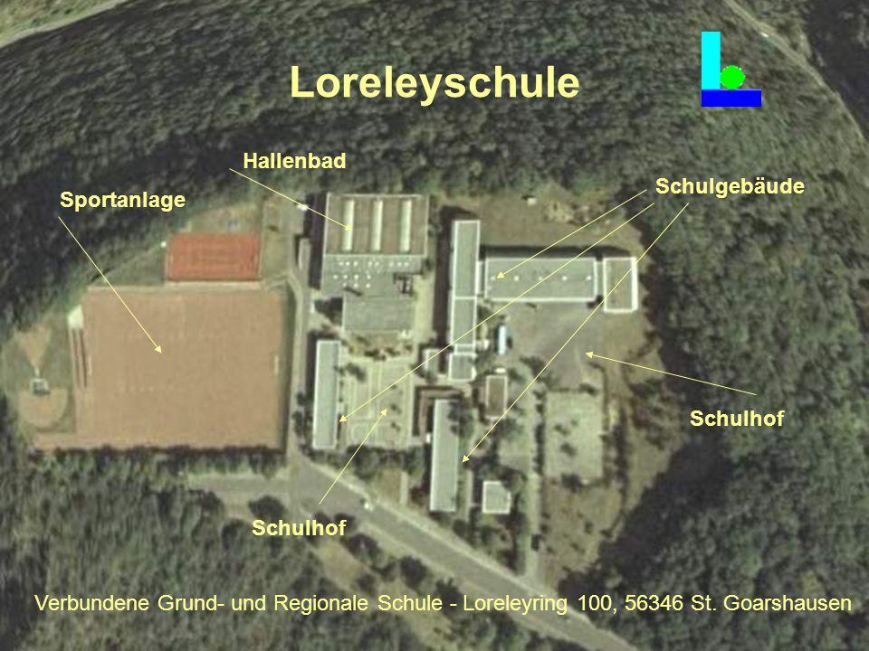 Loreleyschule Sportanlage Hallenbad Schulgebäude Schulhof Verbundene Grund- und Regionale Schule - Loreleyring 100, 56346 St. Goarshausen