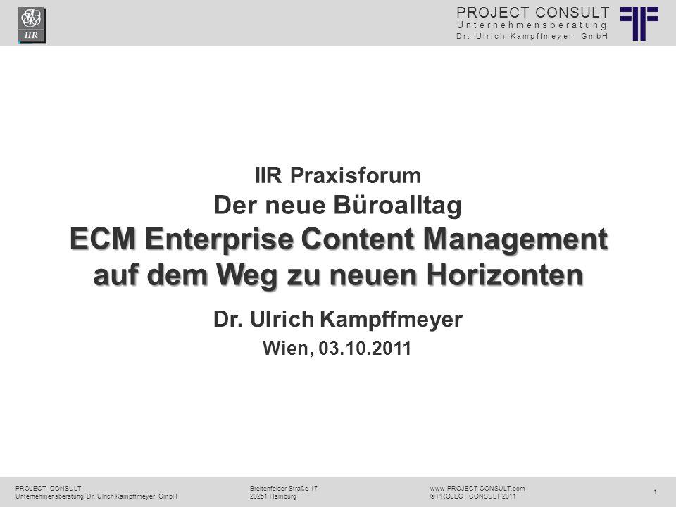 ECM Neue HorizonteIIR Wien 03.10.2011Dr.