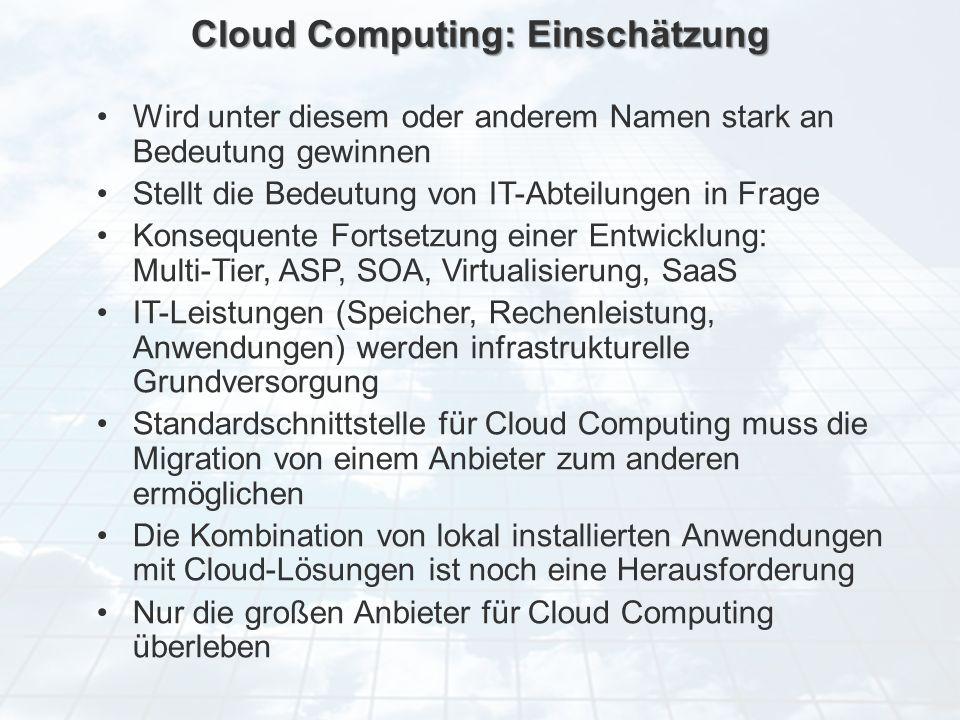 ECM Neue HorizonteIIR Wien 03.10.2011Dr. Ulrich KampffmeyerIIR_ECM_Kff_20111003_Show 32 Cloud Computing: Einschätzung Wird unter diesem oder anderem N