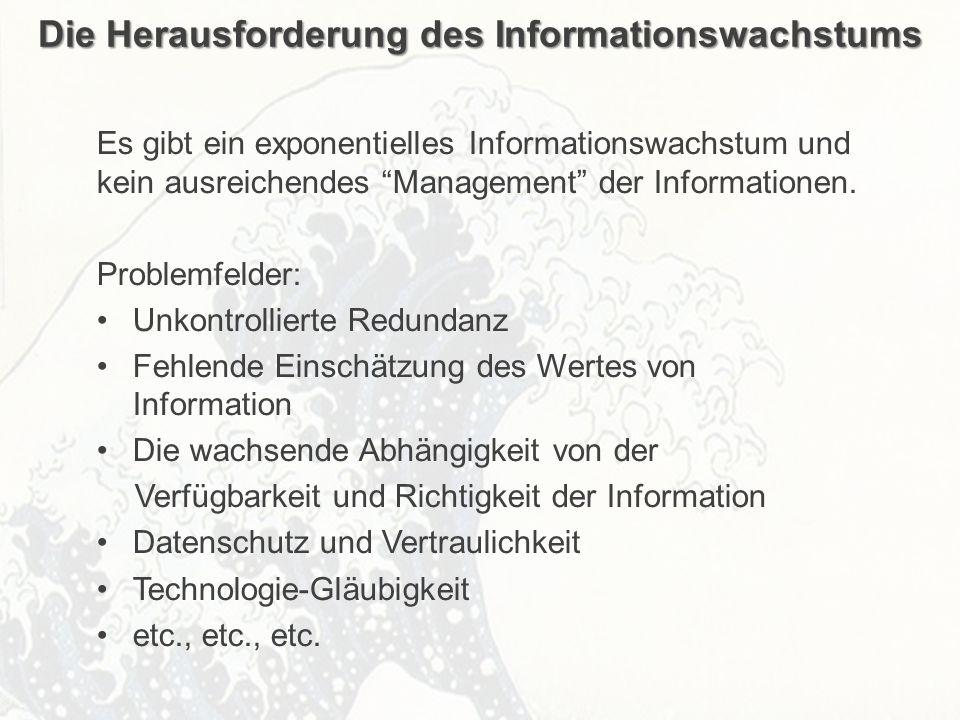 ECM Neue HorizonteIIR Wien 03.10.2011Dr. Ulrich KampffmeyerIIR_ECM_Kff_20111003_Show 45 Die Herausforderung des Informationswachstums Es gibt ein expo