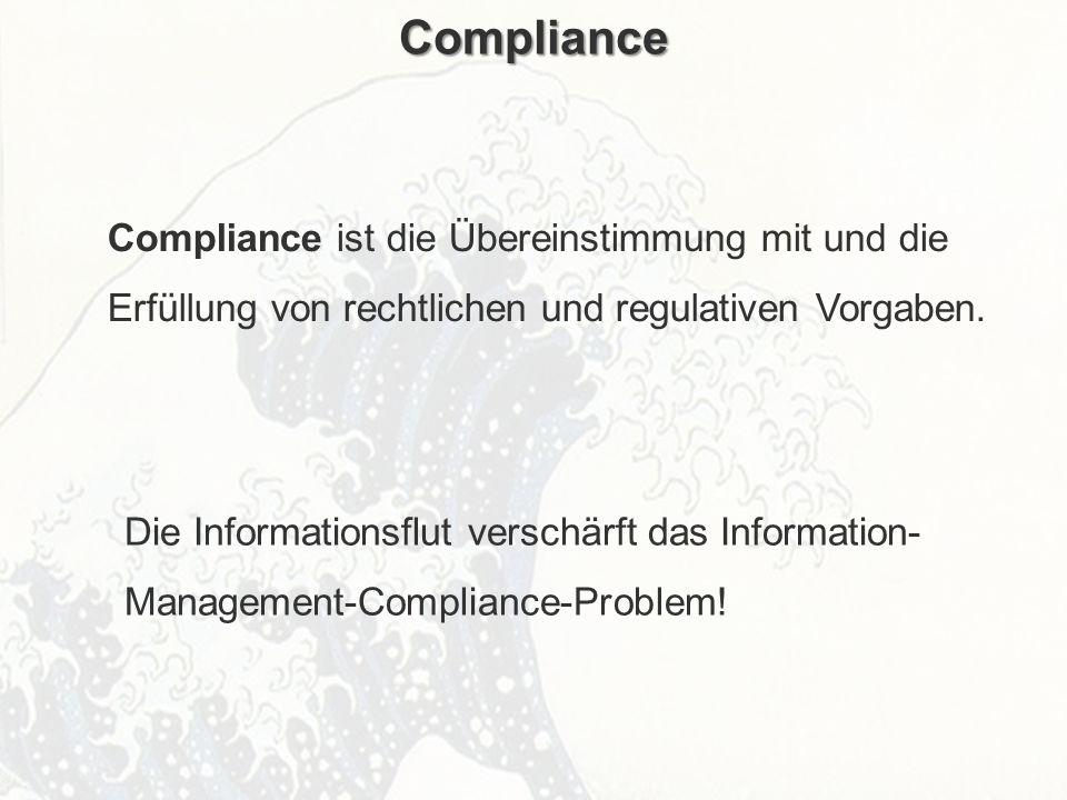ECM Neue HorizonteIIR Wien 03.10.2011Dr. Ulrich KampffmeyerIIR_ECM_Kff_20111003_Show 46 Compliance Compliance ist die Übereinstimmung mit und die Erfü