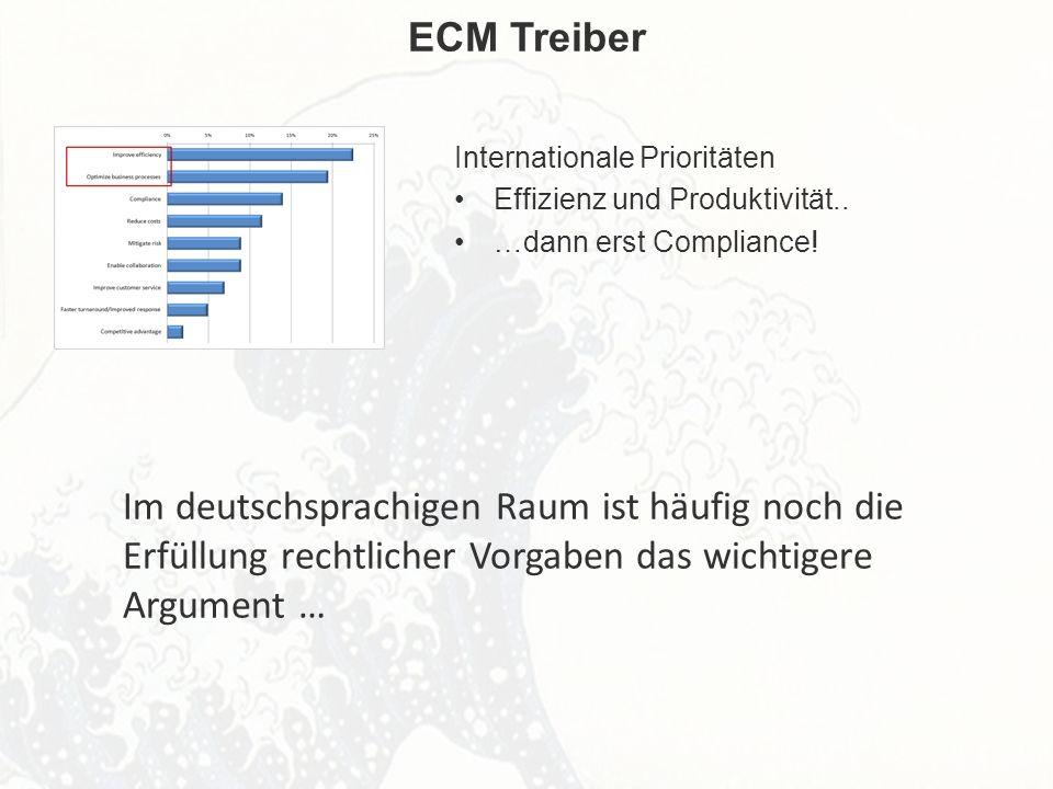 ECM Neue HorizonteIIR Wien 03.10.2011Dr. Ulrich KampffmeyerIIR_ECM_Kff_20111003_Show 49 ECM Treiber Internationale Prioritäten Effizienz und Produktiv