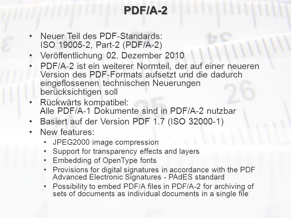 ECM Neue HorizonteIIR Wien 03.10.2011Dr. Ulrich KampffmeyerIIR_ECM_Kff_20111003_Show 68 PDF/A-2 Neuer Teil des PDF-Standards: ISO 19005-2, Part-2 (PDF