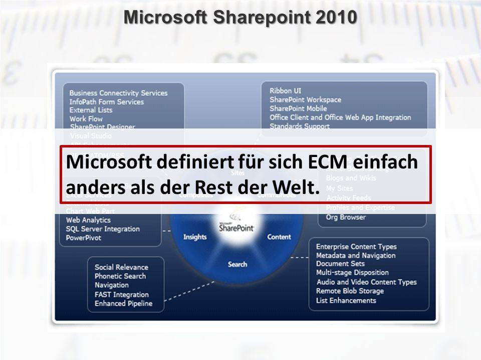 ECM Neue HorizonteIIR Wien 03.10.2011Dr. Ulrich KampffmeyerIIR_ECM_Kff_20111003_Show 69 Microsoft Sharepoint 2010 Microsoft definiert für sich ECM ein