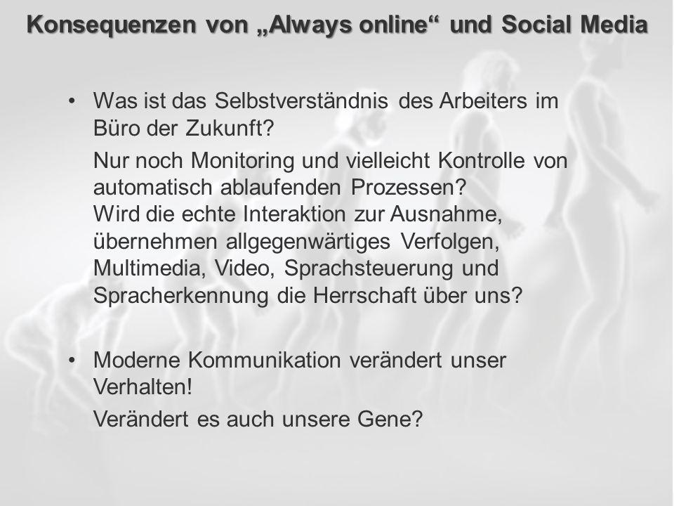 ECM Neue HorizonteIIR Wien 03.10.2011Dr. Ulrich KampffmeyerIIR_ECM_Kff_20111003_Show 86 Konsequenzen von Always online und Social Media Was ist das Se