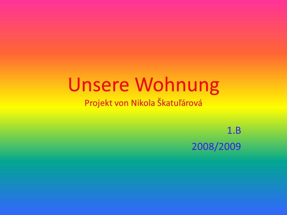 Unsere Wohnung Projekt von Nikola Škatuľárová 1.B 2008/2009