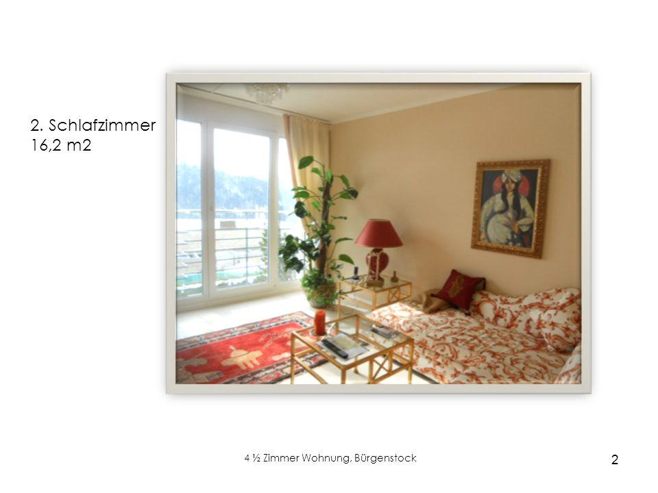 2 4 ½ Zimmer Wohnung, Bürgenstock xx 2. Schlafzimmer 16,2 m2