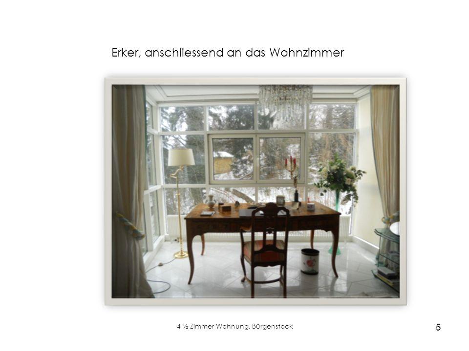 4 ½ Zimmer Wohnung, Bürgenstock 5 Erker, anschliessend an das Wohnzimmer