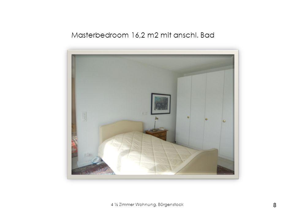 4 ½ Zimmer Wohnung, Bürgenstock 8 Masterbedroom 16,2 m2 mit anschl. Bad