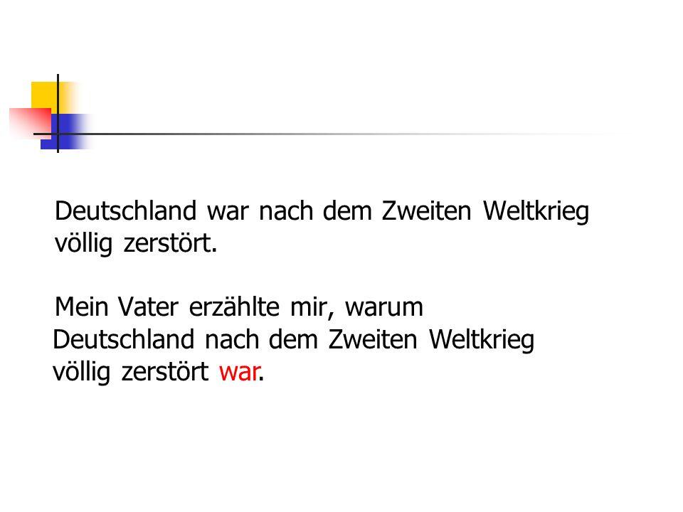 Deutschland war nach dem Zweiten Weltkrieg völlig zerstört.