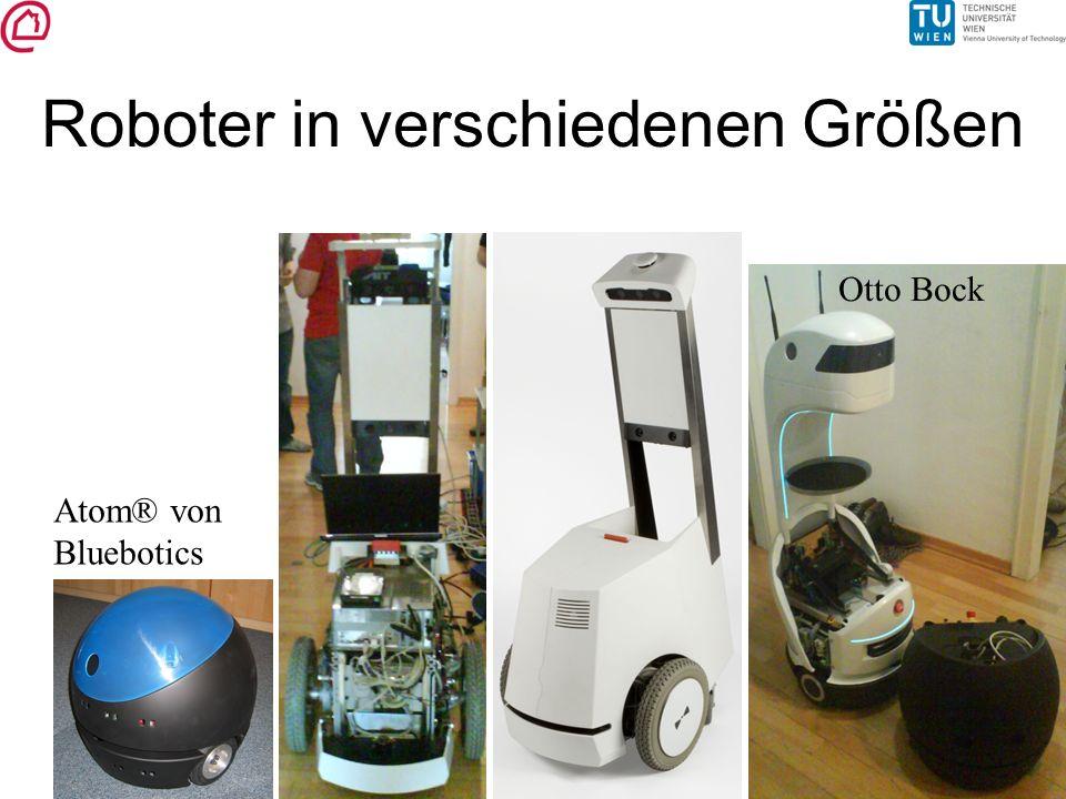 Roboter in verschiedenen Größen Atom® von Bluebotics Otto Bock