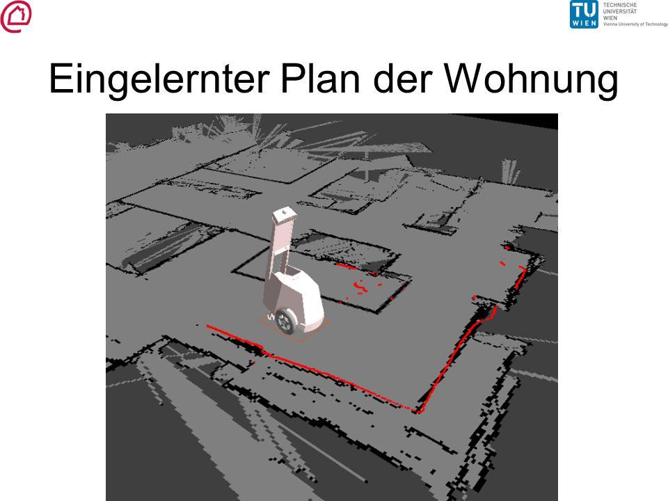 Eingelernter Plan der Wohnung